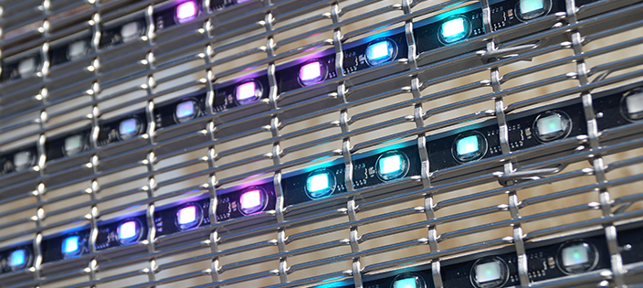 Technologies LED façade multimédia